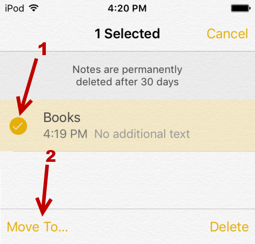 recover deleted notes iPhone