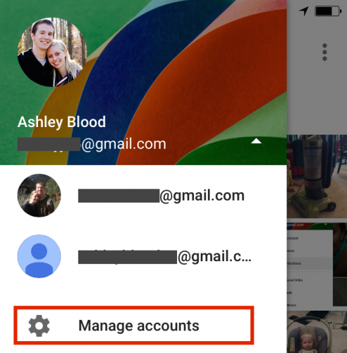 Google Photos Manage Accounts