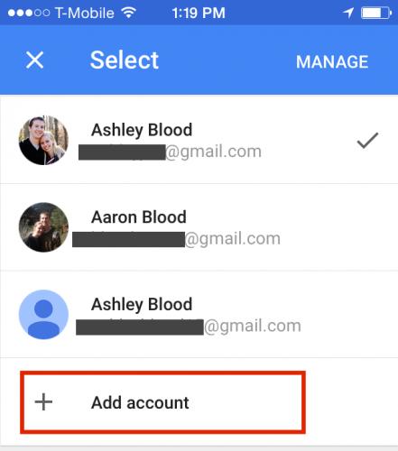 Google Photos Add Account
