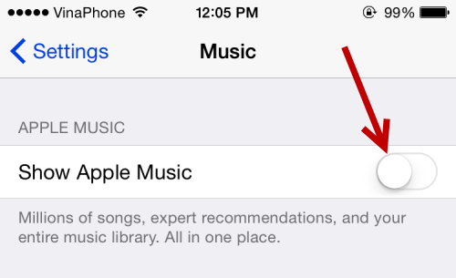 Disable Apple Music