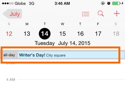 iPhone 6 - Calendar - Events