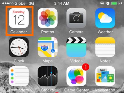 iPhone 6 - Calendar icon