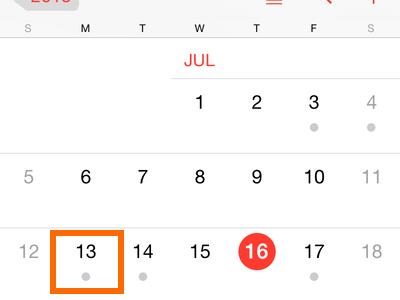 iPhone - Calendar - Choose Date