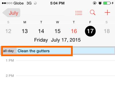 iPhone - Calendar - Choose Event