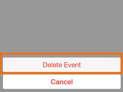 iPhone - Calendar - Confirm Delete Button