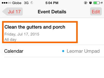 iPhone - Calendar - Editing Done