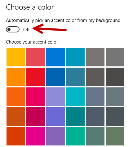 change windows 10 accent color