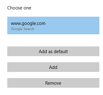 set default search engine for Microsoft Edge