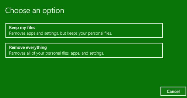 Reset Windows 10 step 1