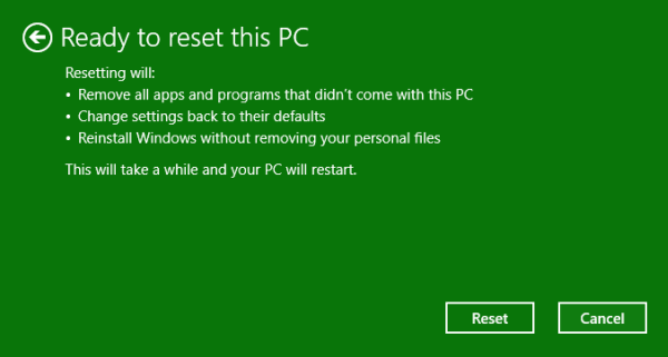 Reset Windows 10 Step 3