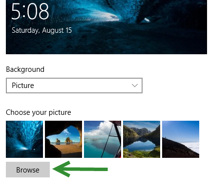 change Windows 10 lock screen background