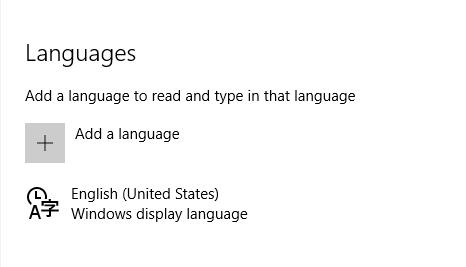Windows 10 add a new language