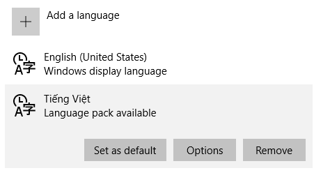 Windows 10: Change or Add Another Language