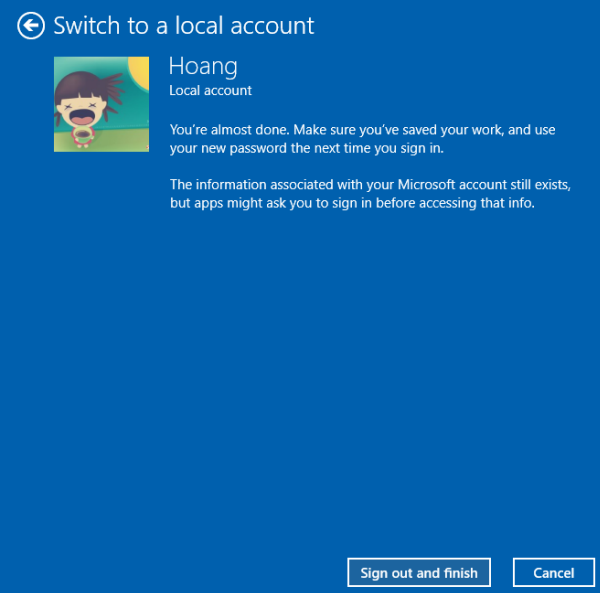 Windows 10 offline account
