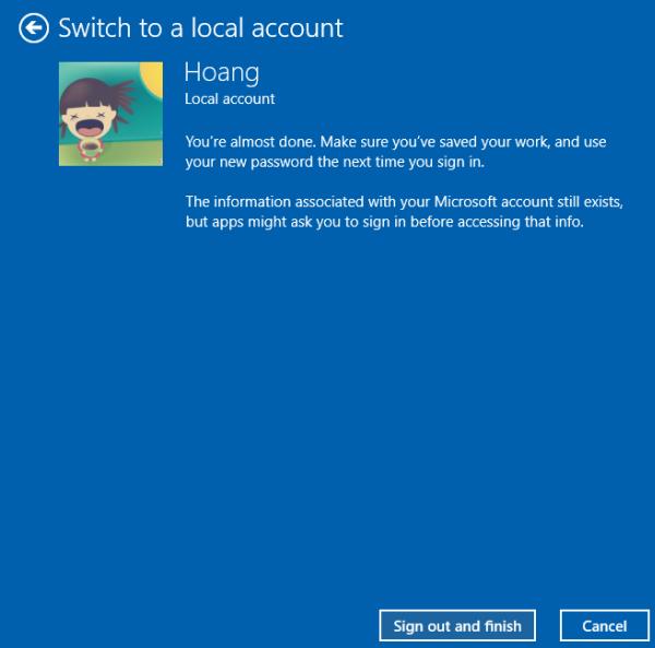 Windows 10 offline account
