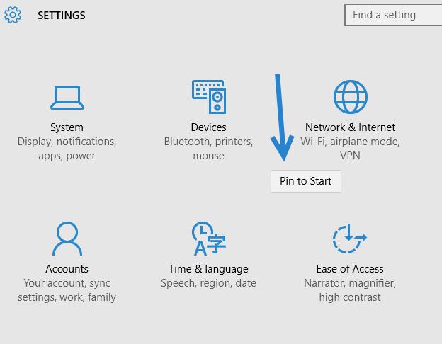 how to pin a shortcut to start menu windows 10