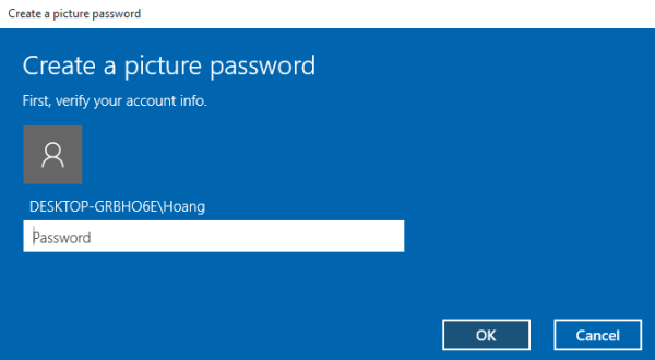Windows 10 picture password