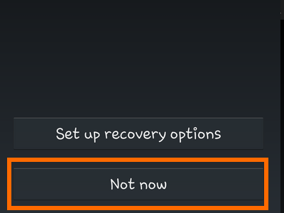 Android - Create Google - Account Recovery