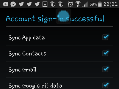 Android - Create Google - Account Sign in successful