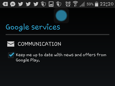 Android - Create Google - Communications