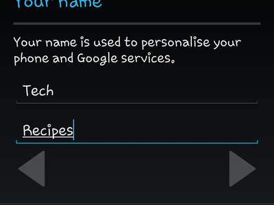 Android - Create Google - Name