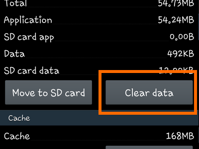 Android - Settings - Application Manager - App Info - Clear Data