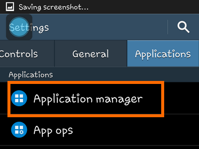 Android - Settings - Application Manager