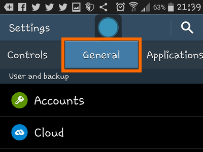 Android - Settings - General
