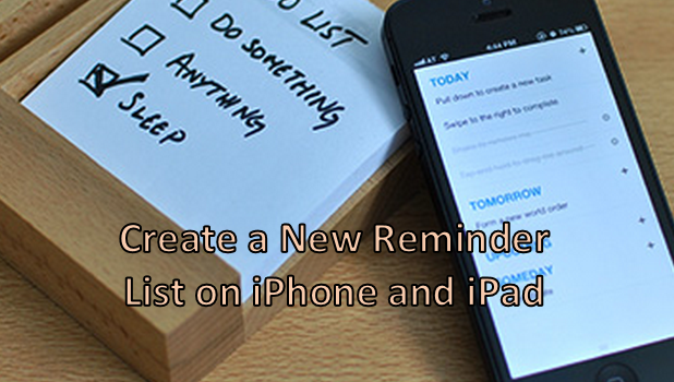 Create a New Reminder List on iPhone and iPad