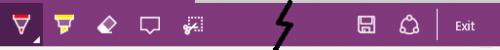 Windows Edge Annotation Bar