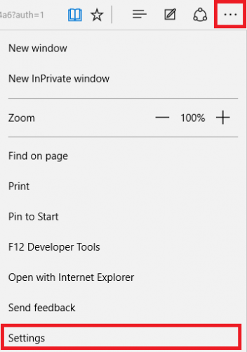Microsoft Edge Options