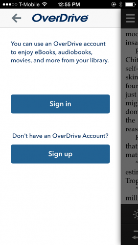 OverDrive Sign Up