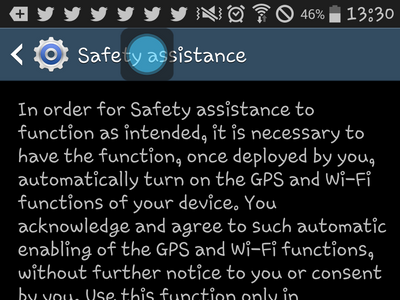 Samsung Galaxy - Safety Assistance - Safety Assistance TOS