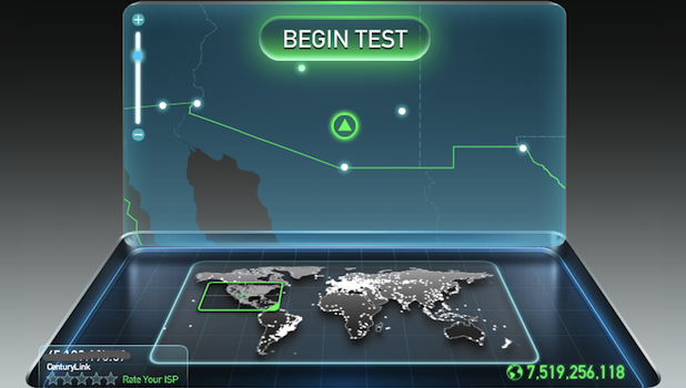 Ookla Speed test internet