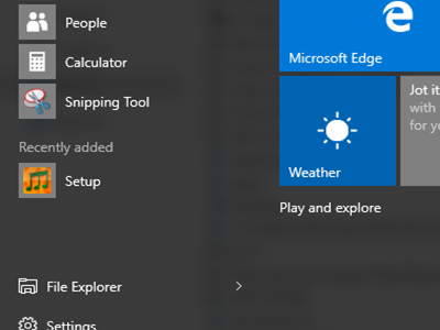 Windows 10 - Any Location with app icon