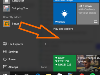 Windows 10 - Drag and drag to Pin App