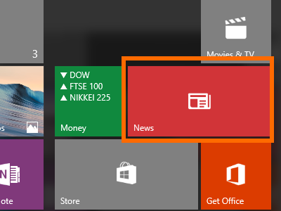 Windows 10 - News App with a Static Tile