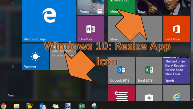 Windows 10 - Resize App Icon on Start Menu