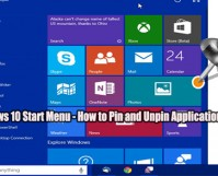 Windows 10 Start Menu - How to Pin and Unpin Application Icons