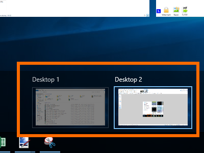 Windows 10 - Task View - Available Virtual Desktops