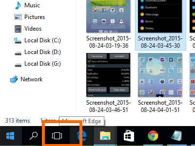 Windows 10 - Task View Button