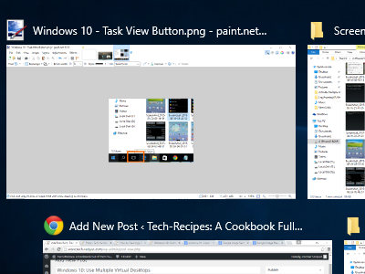 Windows 10 - Task View Displayed