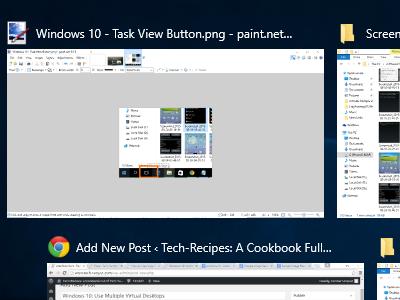 Windows 10 - Task View Displayed