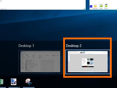 Windows 10 - Task View - New Desktop Enabled