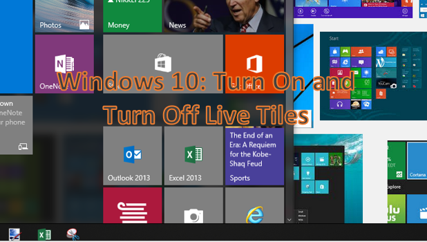 Windows 10 - Turn On and Turn Off Live Tiles