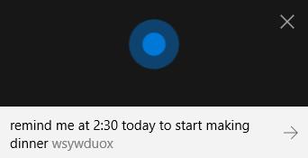 Cortana Set Reminder