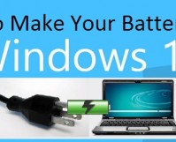 How to Make Your Battery Last Windows 10