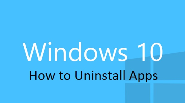 Windows 10 Uninstall apps