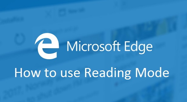 Microsoft Edge how to use reading mode