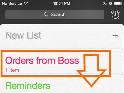 iPhone - Reminders - Drag List